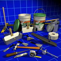 Drywall Tools & Mud Buckets 01