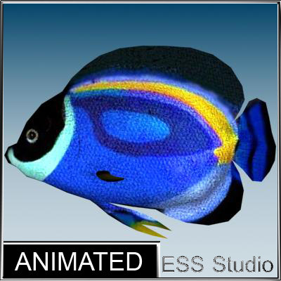 3ds max tropical fish