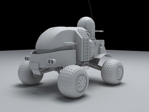 3d armored moon vehicle model