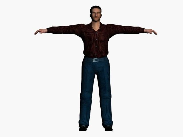 character man 3d model