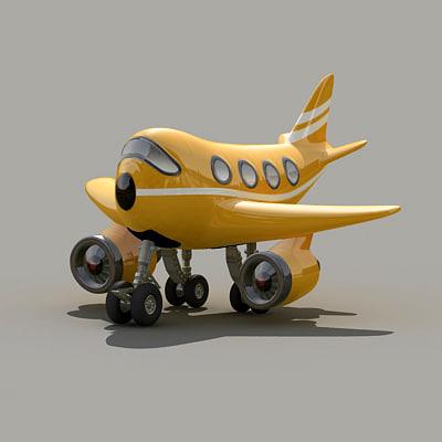 design fun plane 3d model