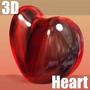 decorative heart 3d model