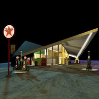 Hyperbolic Paraboloid Gas Station 1958 01