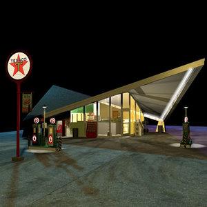 hyperbolic paraboloid gas station 3d max