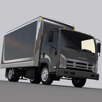 delivery box truck 3ds