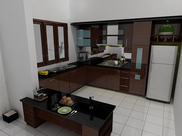 3d model kitchen set for Kitchen set 008 58