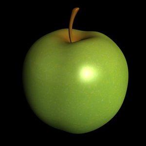 apple fruit 3d c4d