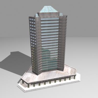 office apartment building 3d 3ds