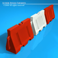 c4d plastic road barrier