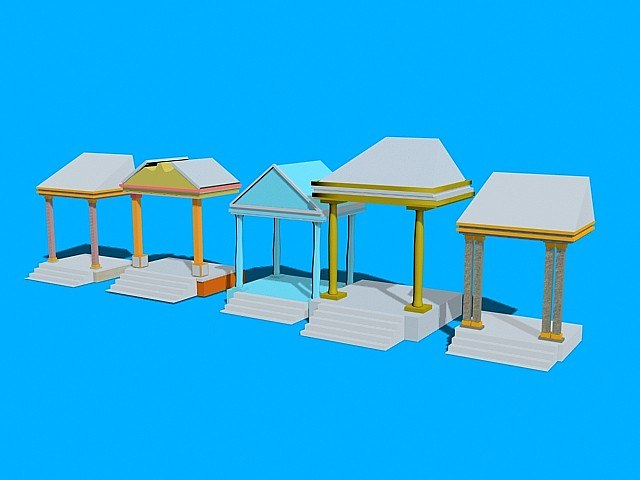 3d porche doors model