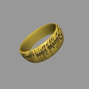 3ds max sauron ring