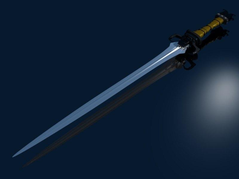 3dsmax sword deamon