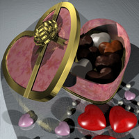 3d model valentine chocolate box