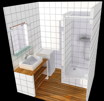 bathroom salle bain 3d model