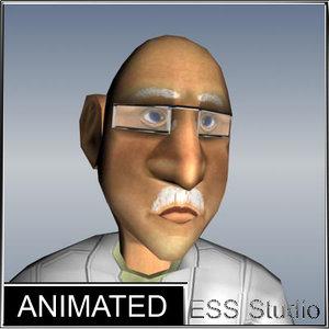 3d scientist animation