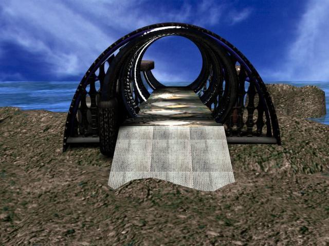 3ds sci-fi teleporter gate