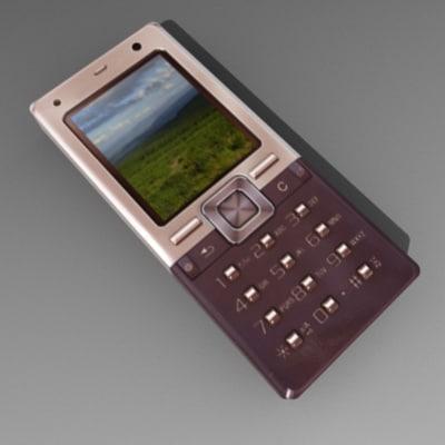 t650i cell phone 3d obj