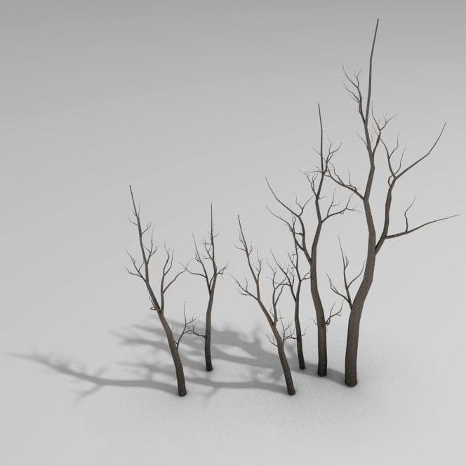 blender winter tree
