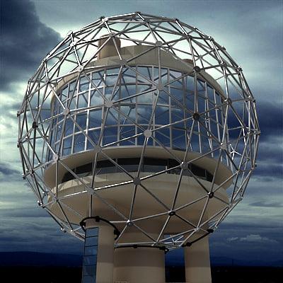 reunion tower 3d model