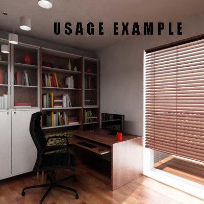 3d study room model
