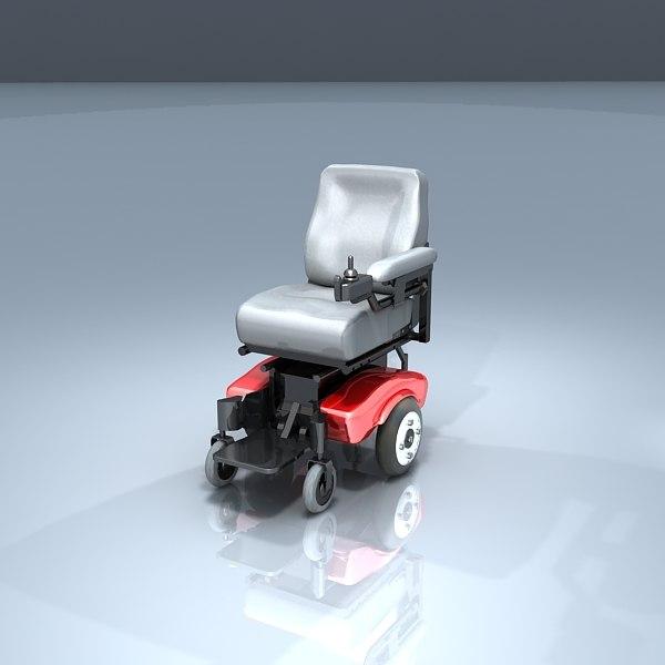 3d motorized wheel chair