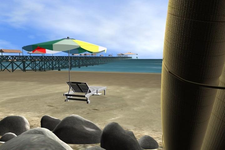 beach dock umbrella max