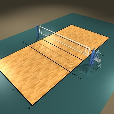 3dsmax volleyball court ball arena