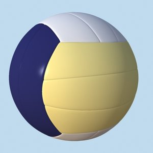 3d model of volleyball volley ball