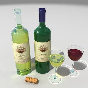 maya red white wine bottles