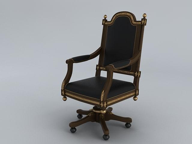 3d model work armchair arm chair