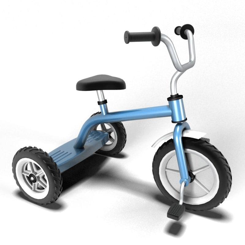 tricycle 3d obj
