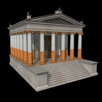 roman temple 3d c4d