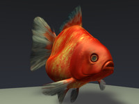 3d 3ds fish gold goldfish