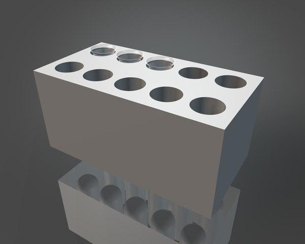 3d model of test tube