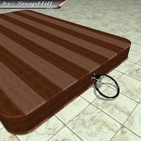 3d model wooden kitchen chop board