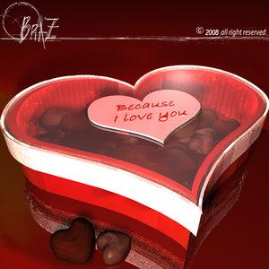 3ds max chocolates box