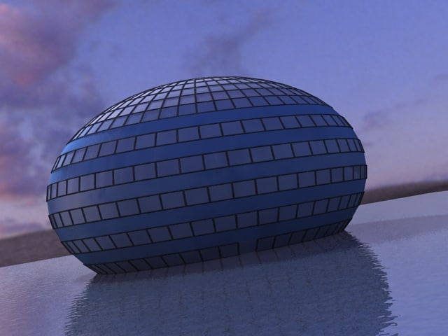 3ds max dome water