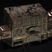 3ds max grunge houses old