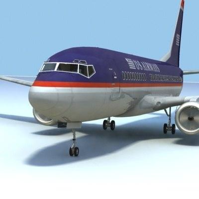 737-700 airways interior 3d model