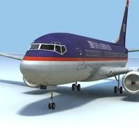737-700 airways interior 3d model