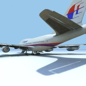 3dsmax 747-sp-malaysia airlines