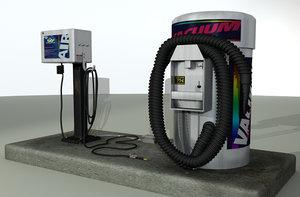 3d model of air pump vacuum