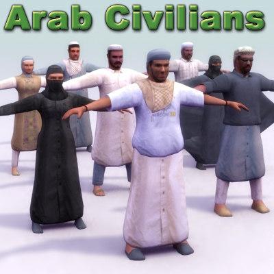 arab character 3d model