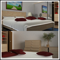 bedroom bed dxf