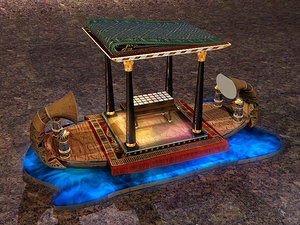 3d max cleopatra boat zipped