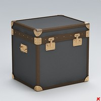 trunk chest crate 3d model