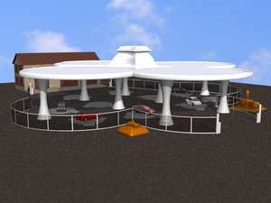 car garage 3d max