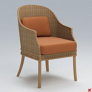 3d model wicker chair