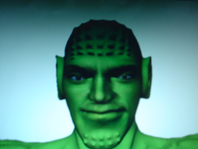 3d obj green alien