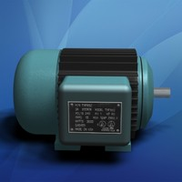 electric motor cooling fins 3d model